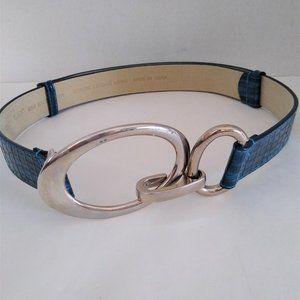 White House Black Market Blue Adj. Leather Belt